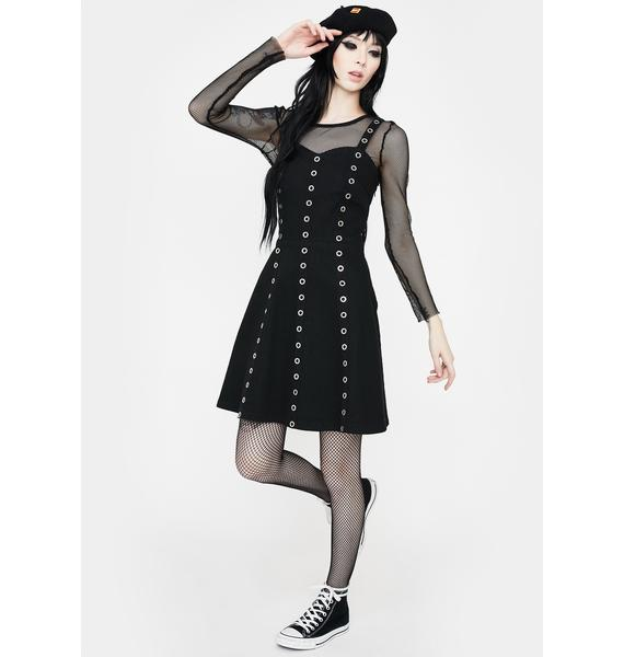 Jawbreaker Wild West Eyelet Mini Dress