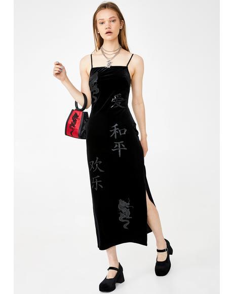 Velvet Charmer Maxi Dress