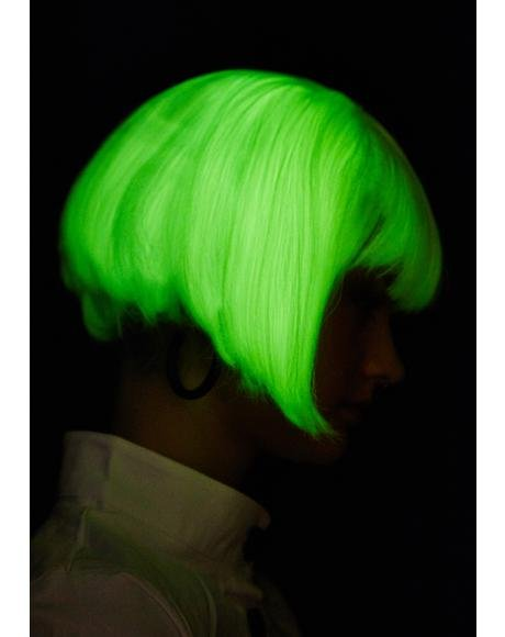 Cryogenic Corruption Glow In The Dark Wig