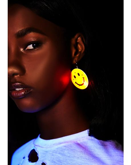 Off Beam Smiley Earrings
