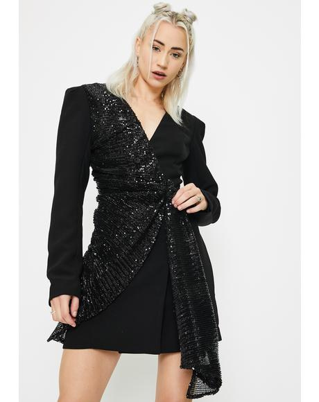 Sarine Sequin Blazer Dress