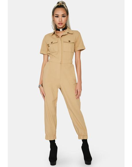 Yellow Stone Utility Jumpsuit