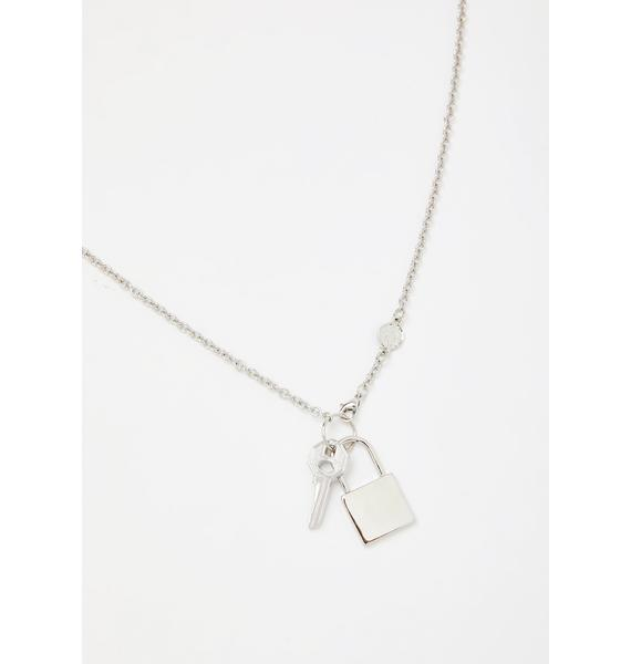 Plated Unlocked Desire Chain Necklace