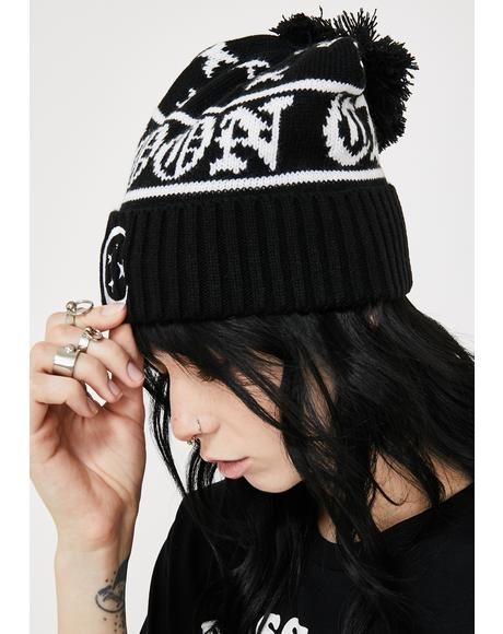 Moonscape Bobble Beanie