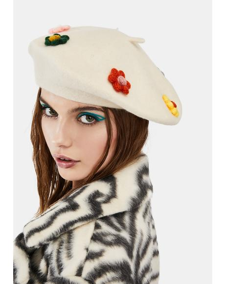 Bloom & Grow Floral Beret