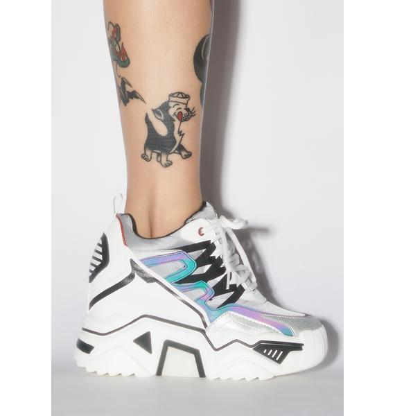 Anthony Wang Prism Stop Look N' Glisten Platform Sneakers