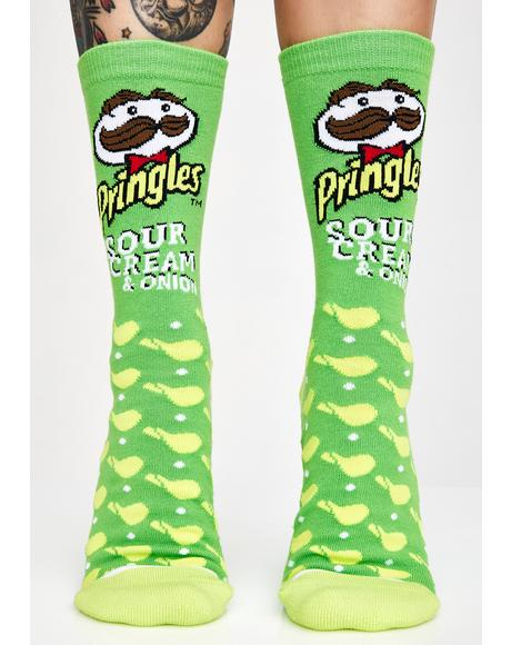 Sour Cream & Onion Pringles Socks