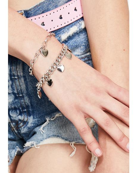 Heartbreaker Chain Bracelet