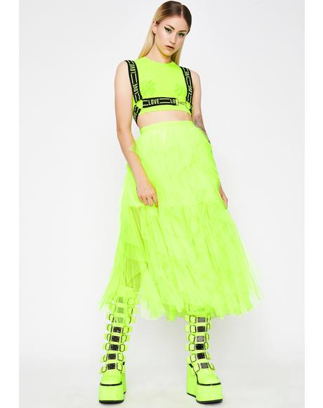 Electric Pixie Dreams Tulle Skirt