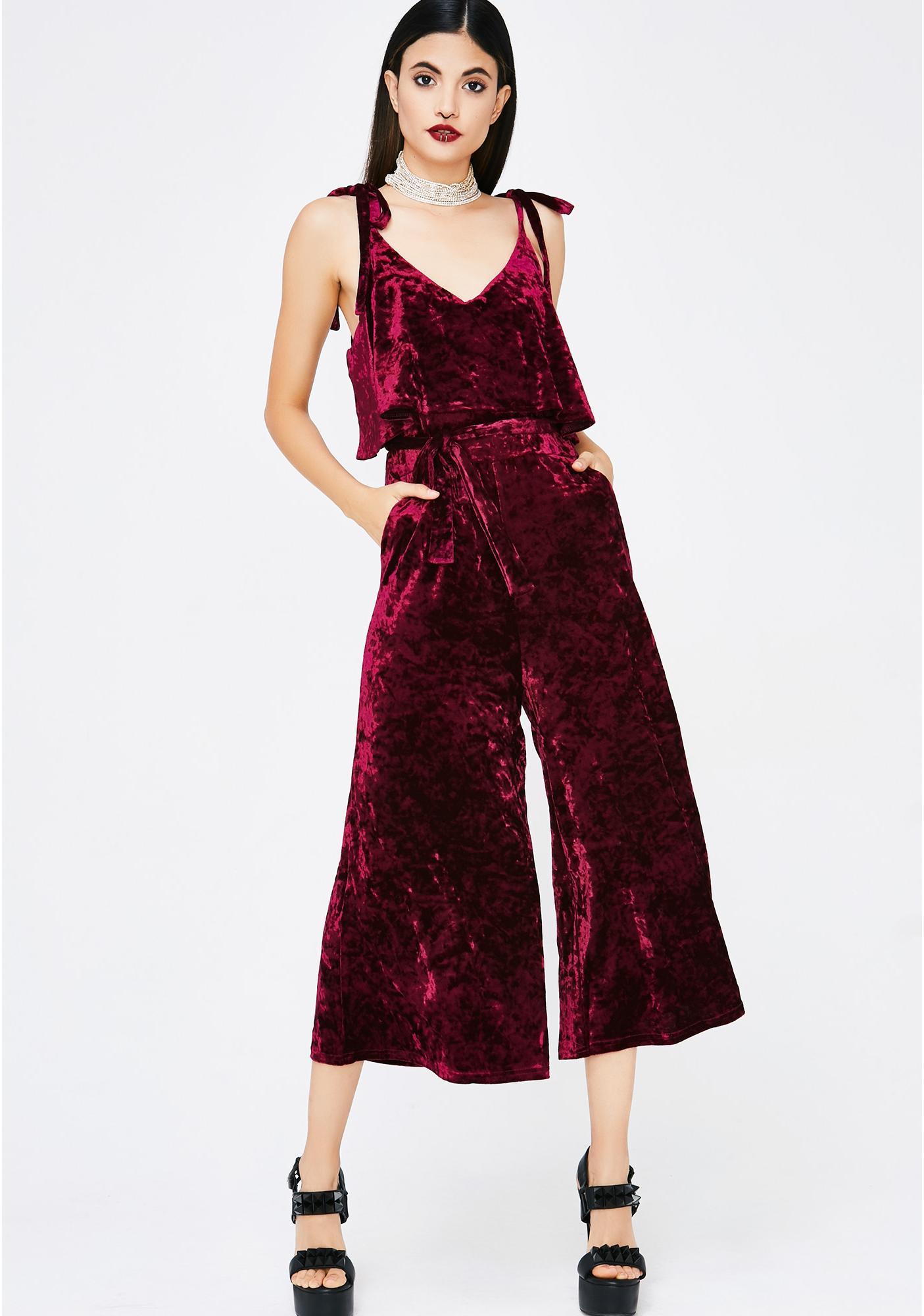 Hopeful Romantic Velvet Jumpsuit