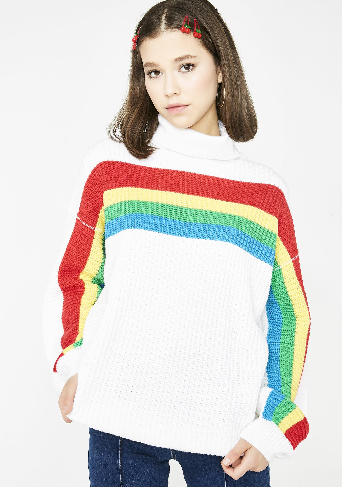 Rainbow Connect Turtleneck Sweater