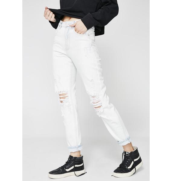 Insight Elaine Stone Age Blue Trashed Jeans