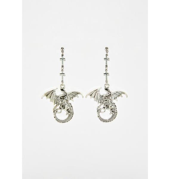 Fire Breather Dragon Earrings