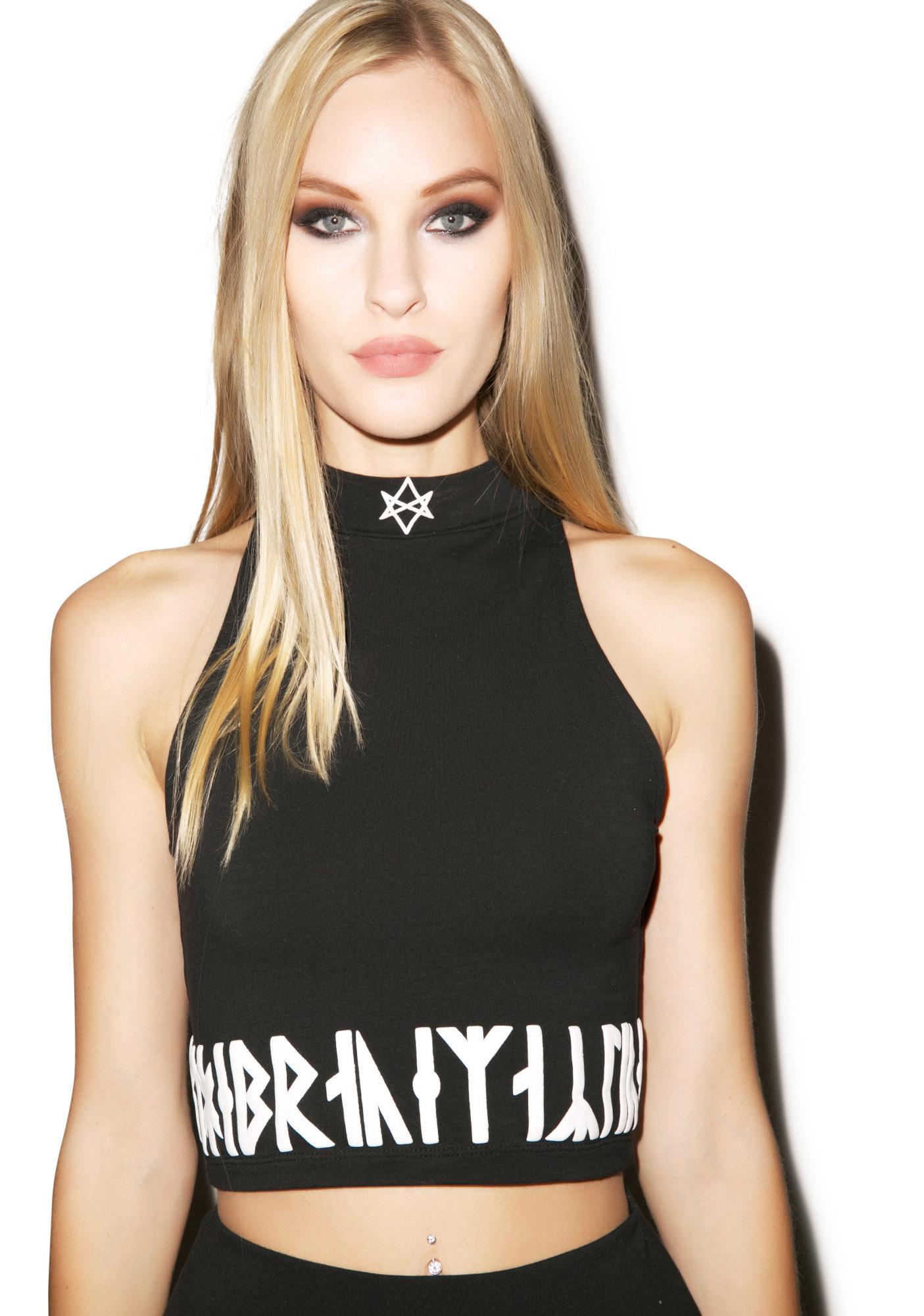 Long Clothing Hexagram Crop Top Sleeveless