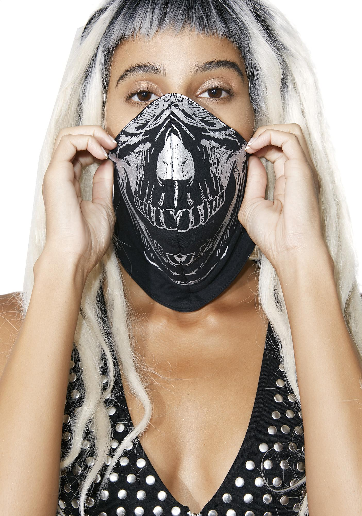 Five and Diamond Skull Dust Mask