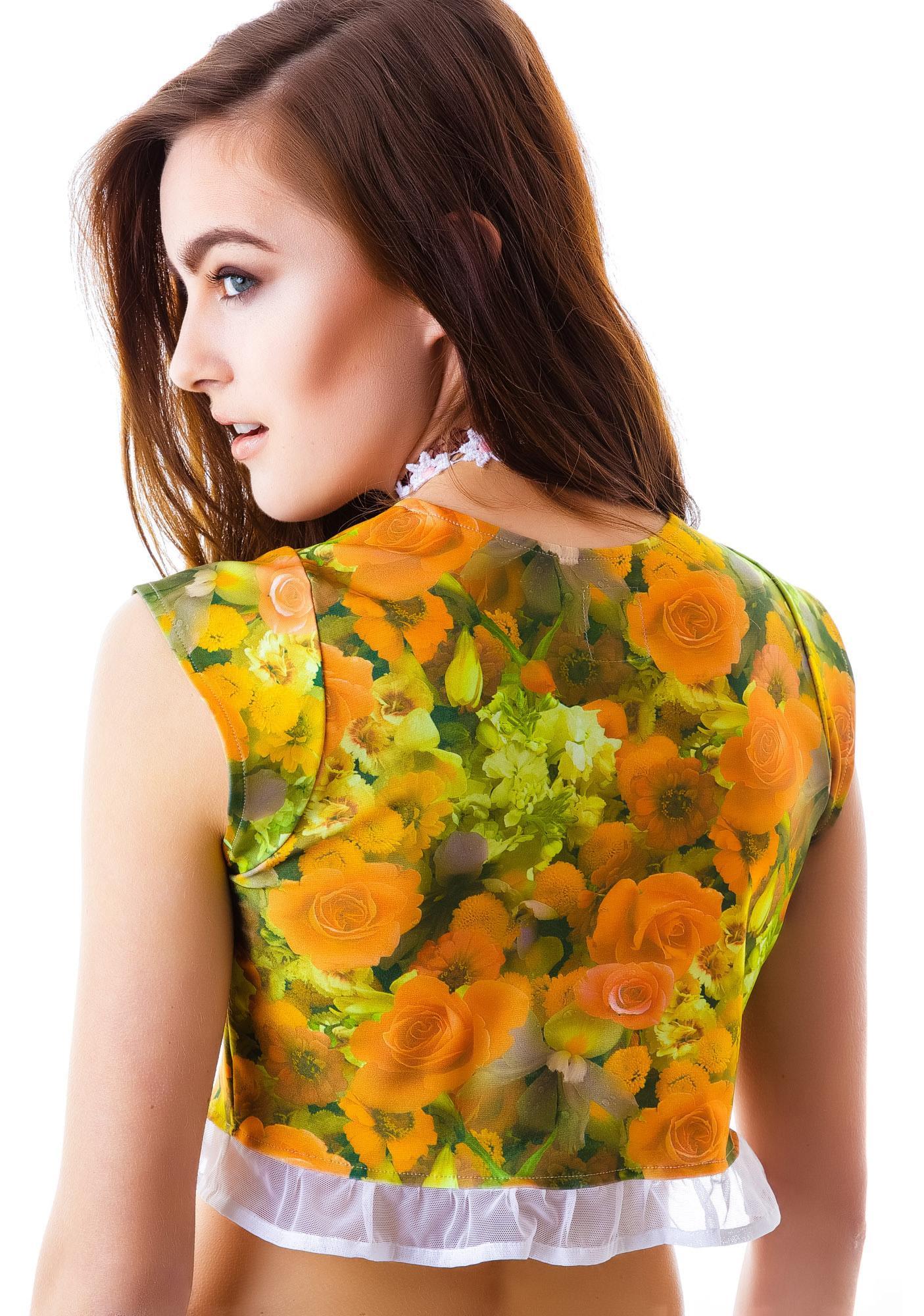 Castles Couture Floral Natalie Crop