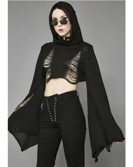 Darkest Hour Crop Sweater