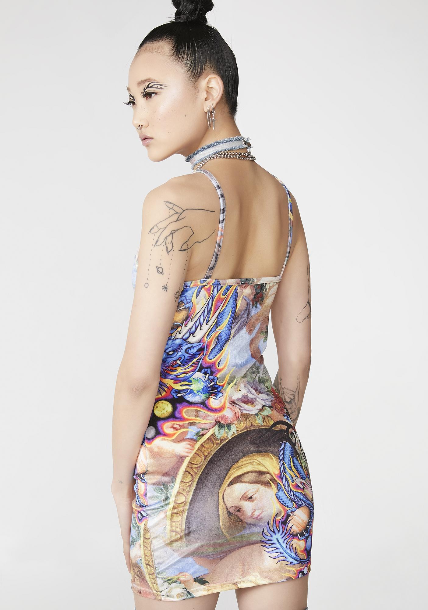 NEW GIRL ORDER Cherub Dragon Velvet Dress