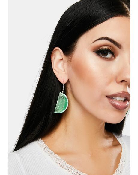With A Twist Drop Earrings