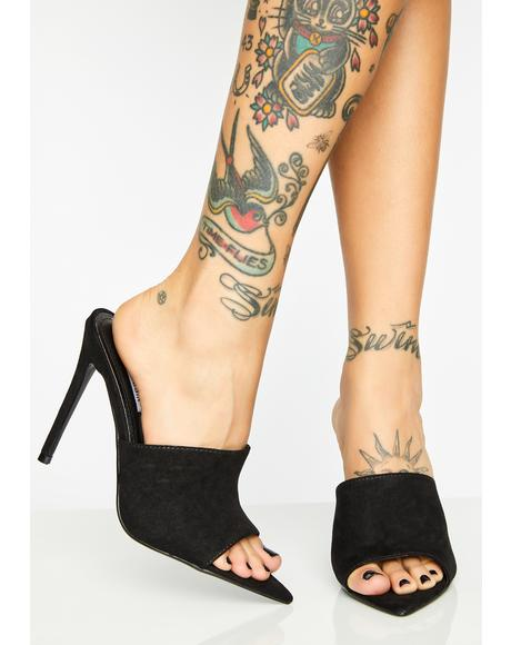 Onyx Time Flyer Stiletto Mules