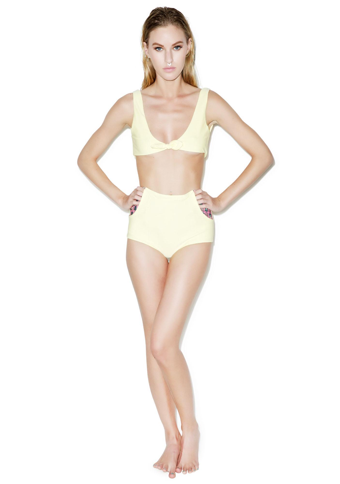 Lolli Swim Lemons Bikini Top