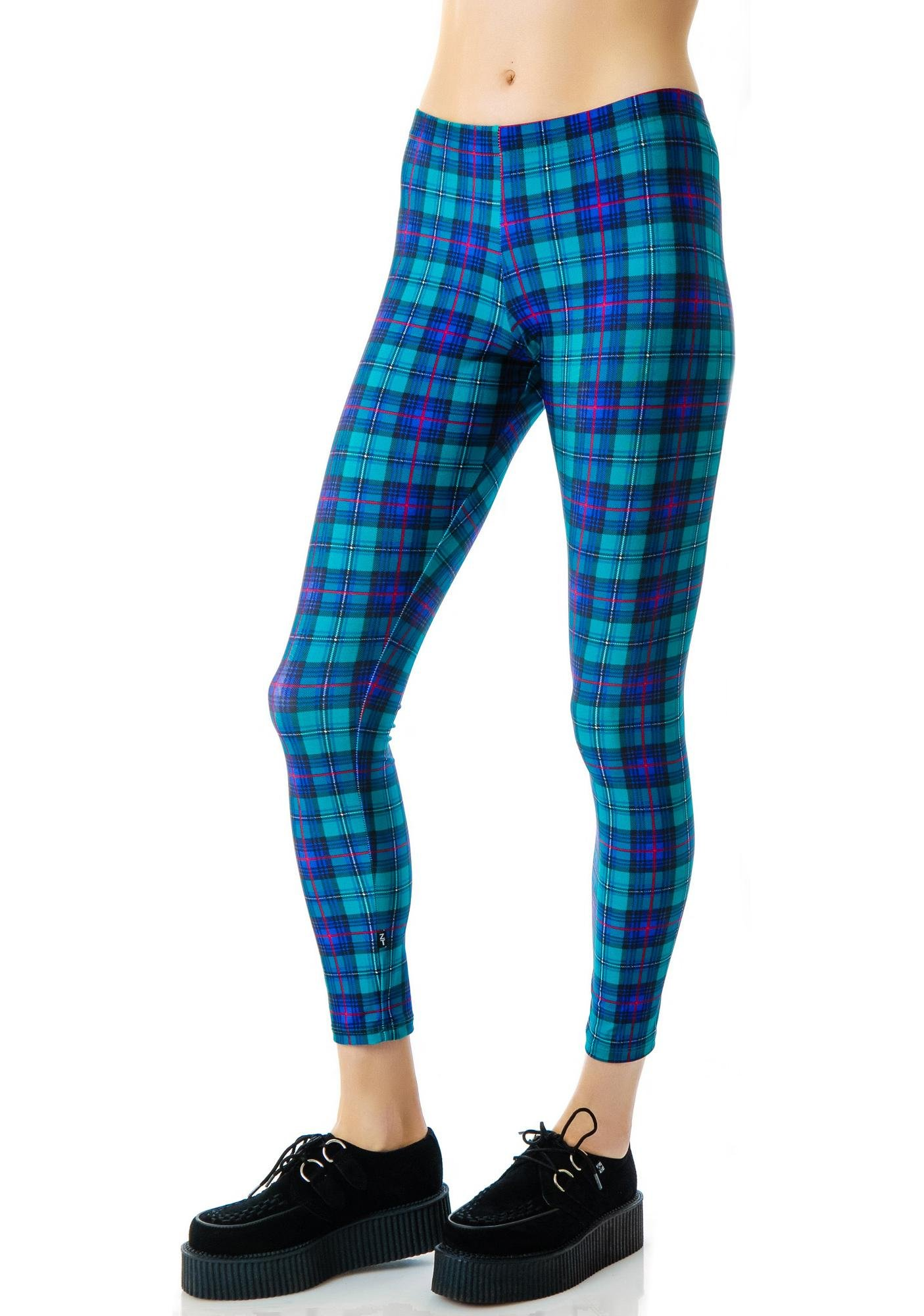 Zara Terez Teal Plaid Leggings