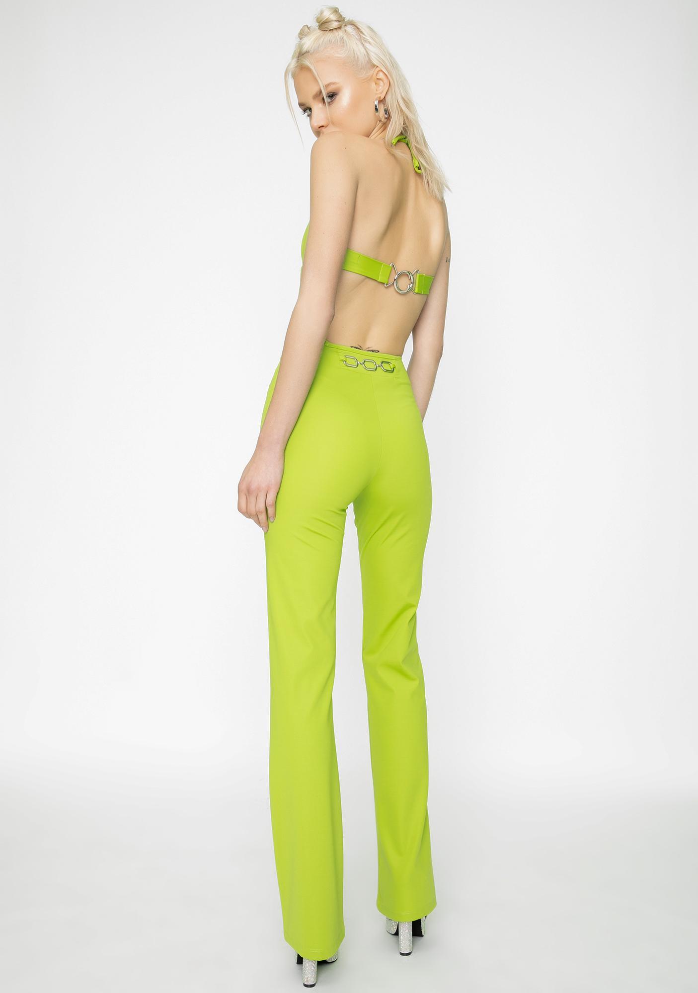 I AM GIA Green Sares Straight Leg Pants