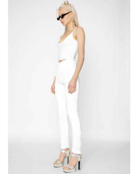 White Estella Skinny Pants