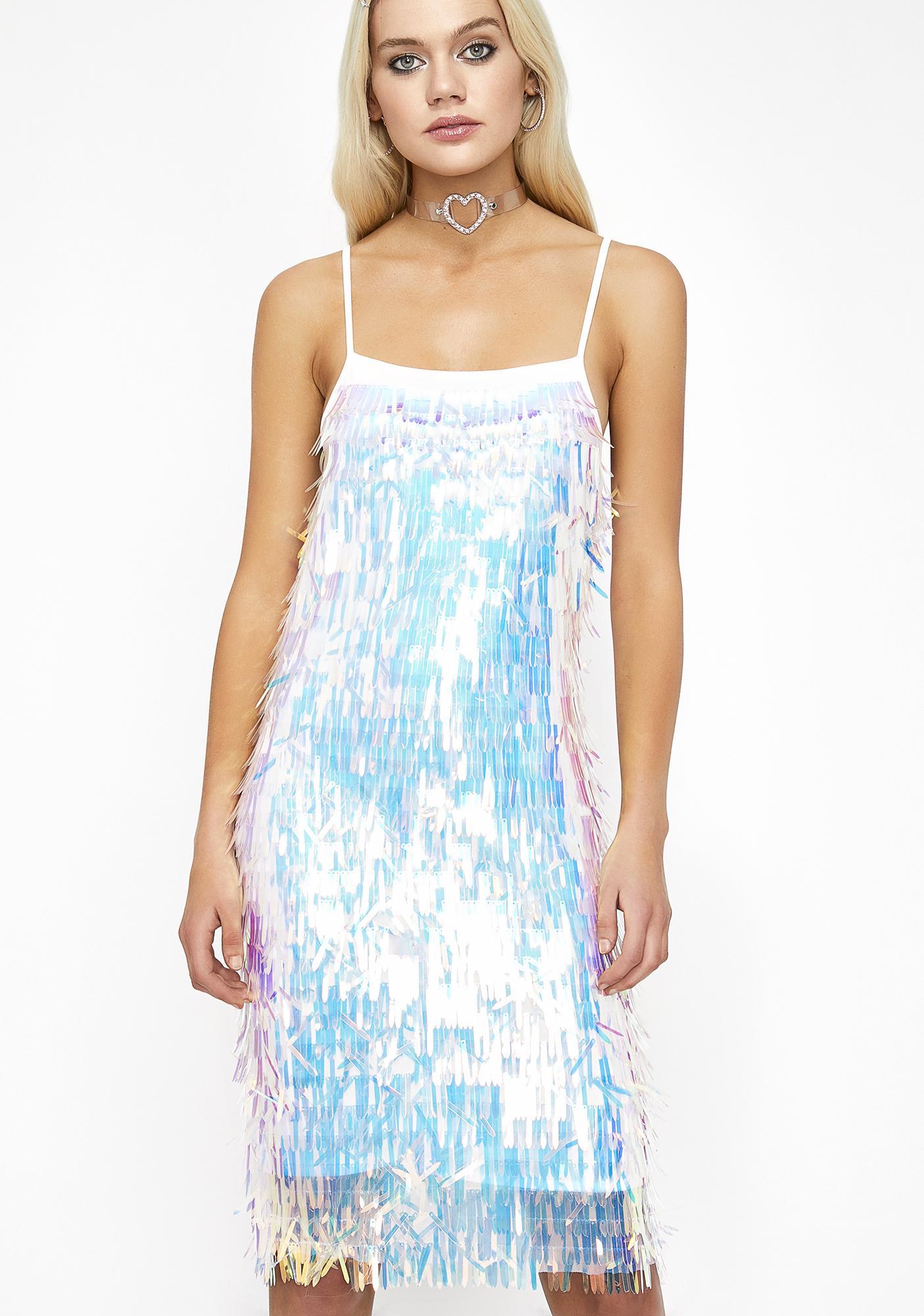 Cosmic Queen Holographic Dress
