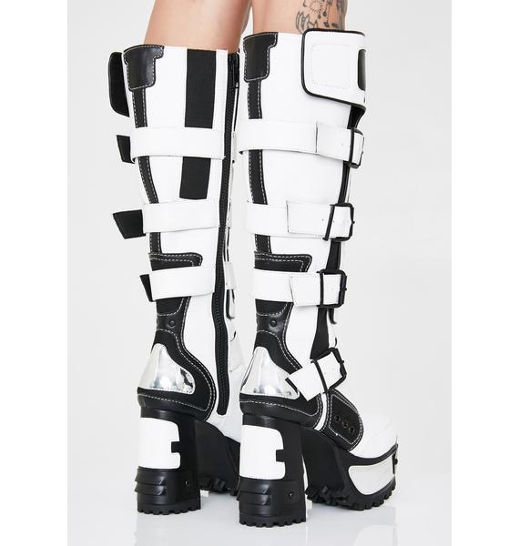 Club Exx Chromatron Platform Boots