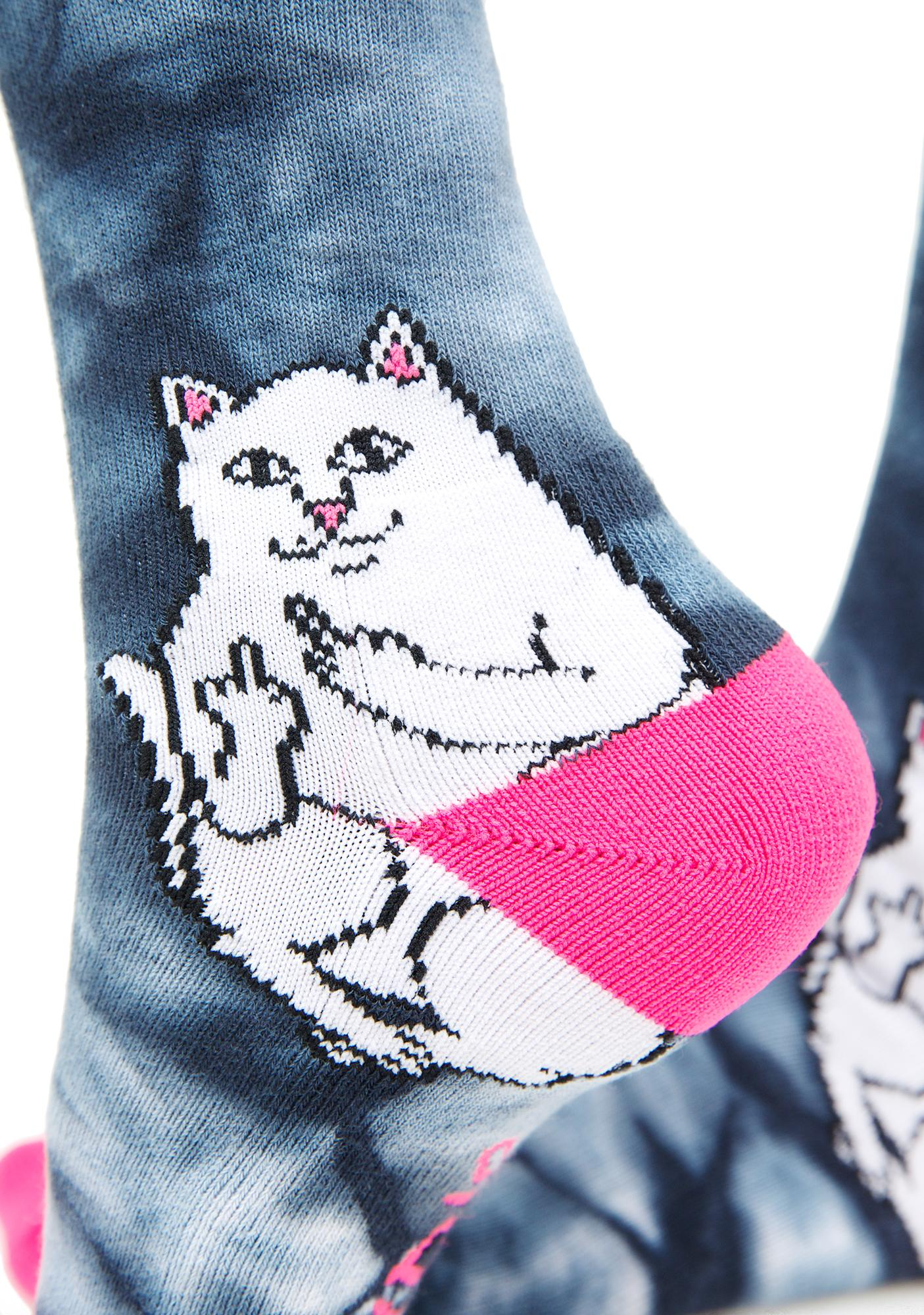 RIPNDIP Lord Nermal Acid Pink Socks