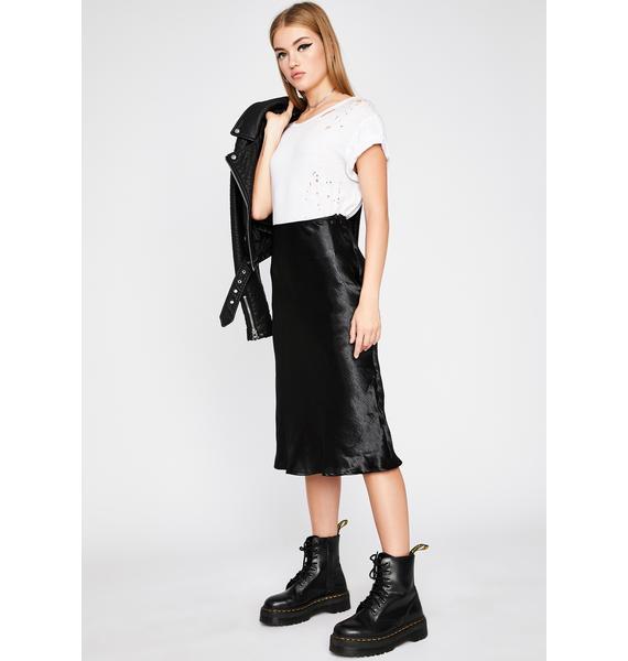 Midnight She's Timeless Midi Skirt