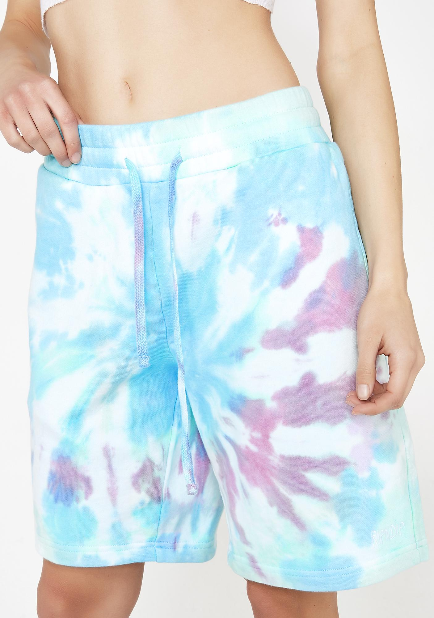 RIPNDIP Kaleidic Peek A Nermal Sweat Shorts
