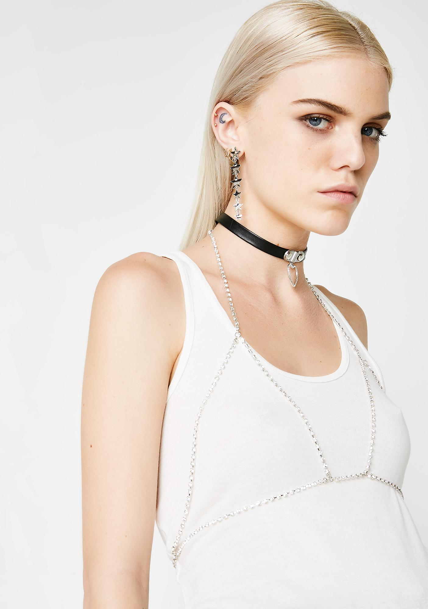 Body Language Choker And Bralette Bling