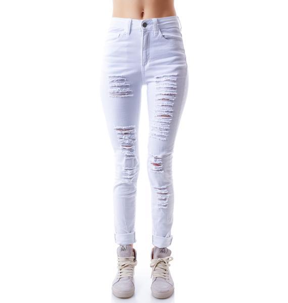 Brandy Destroyed Hi Waisted Jeans