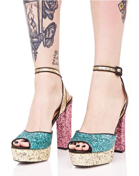 Born 2 Shine Platform Heels