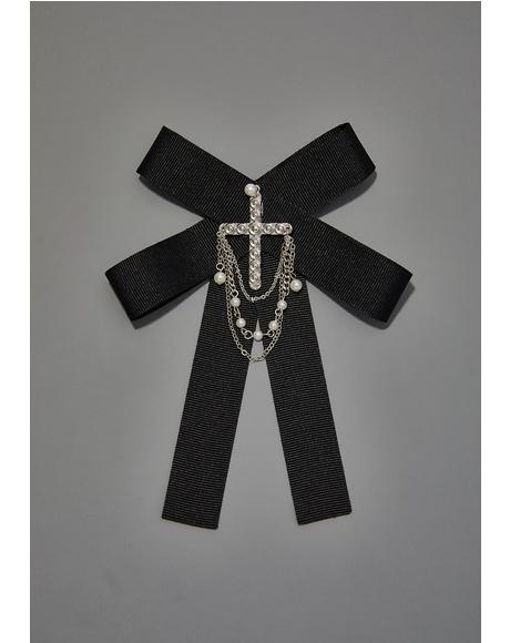 Not Doomed Cross Brooch