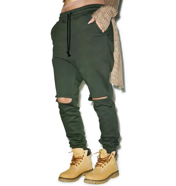 Saint Cut-Out Sweatpants