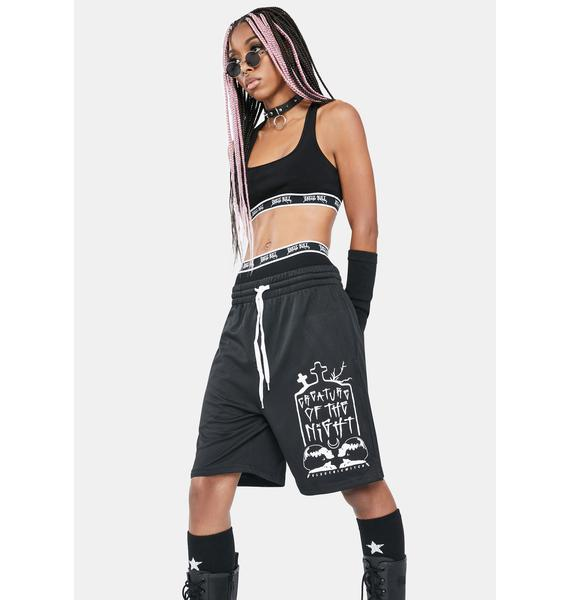 Electric Witch Creature Gym Shorts
