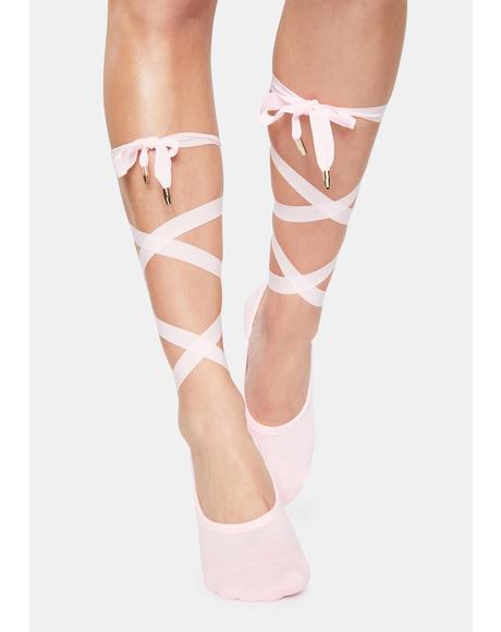 The Rose Honey Lace Up Socks