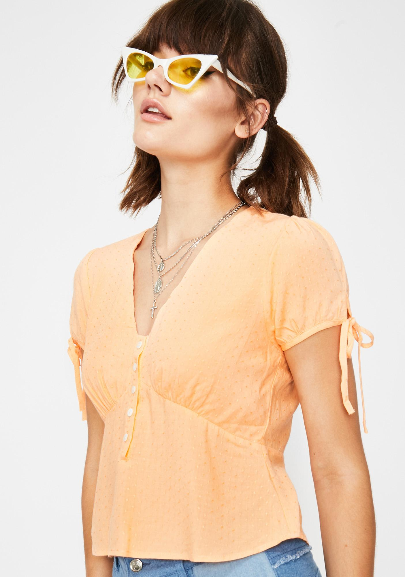 Achy Breaky Heart Button Blouse