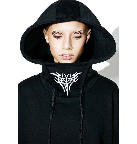 Current Mood Deathblow Masked Hoodie Dress