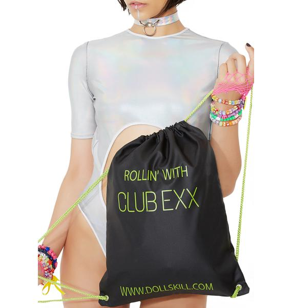 Club Exx Roll With Us Drawstring Backpack