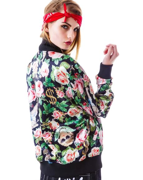 Angelic Rich Floral Reverse Jacket