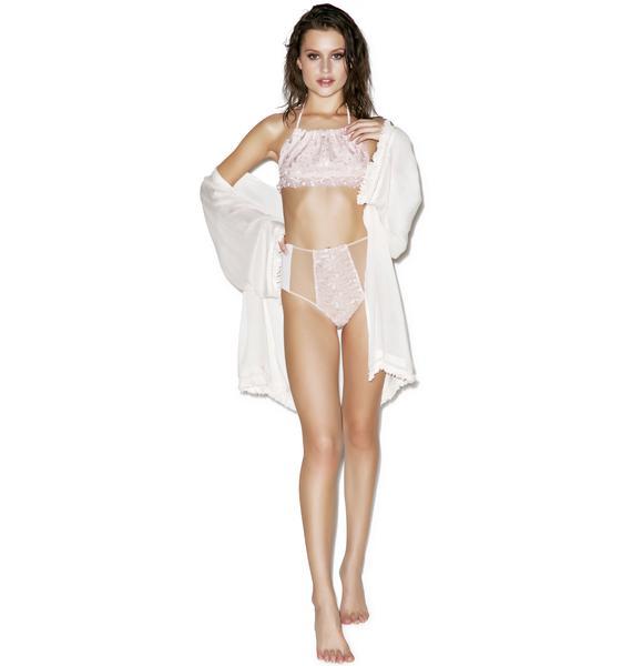 For Love & Lemons Naples Halter Bikini Top