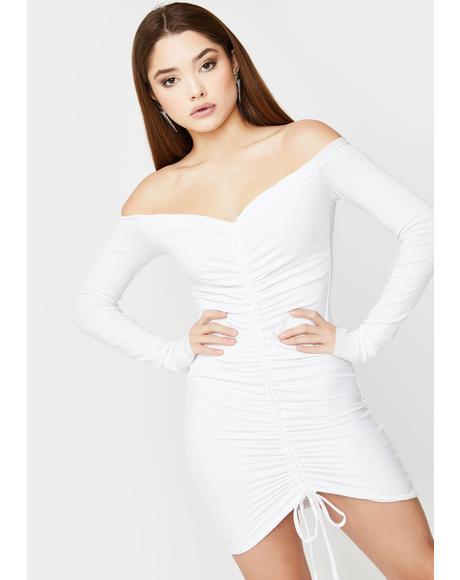 Angels Ruched Mini Dress