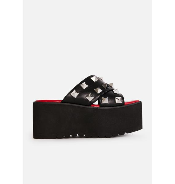Widow Leave Me Alone Studded Sandals