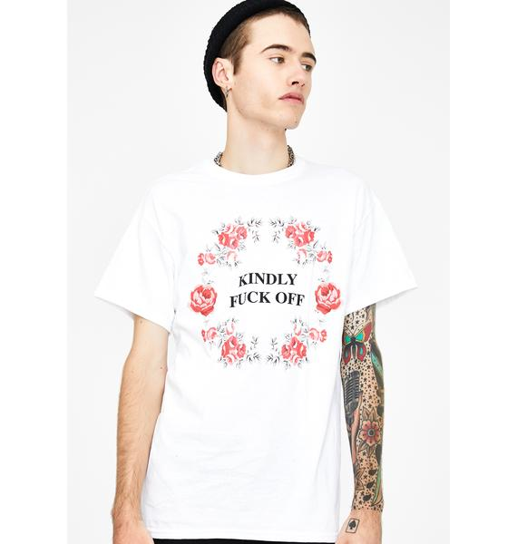Petals and Peacocks White Kindly Graphic Tee