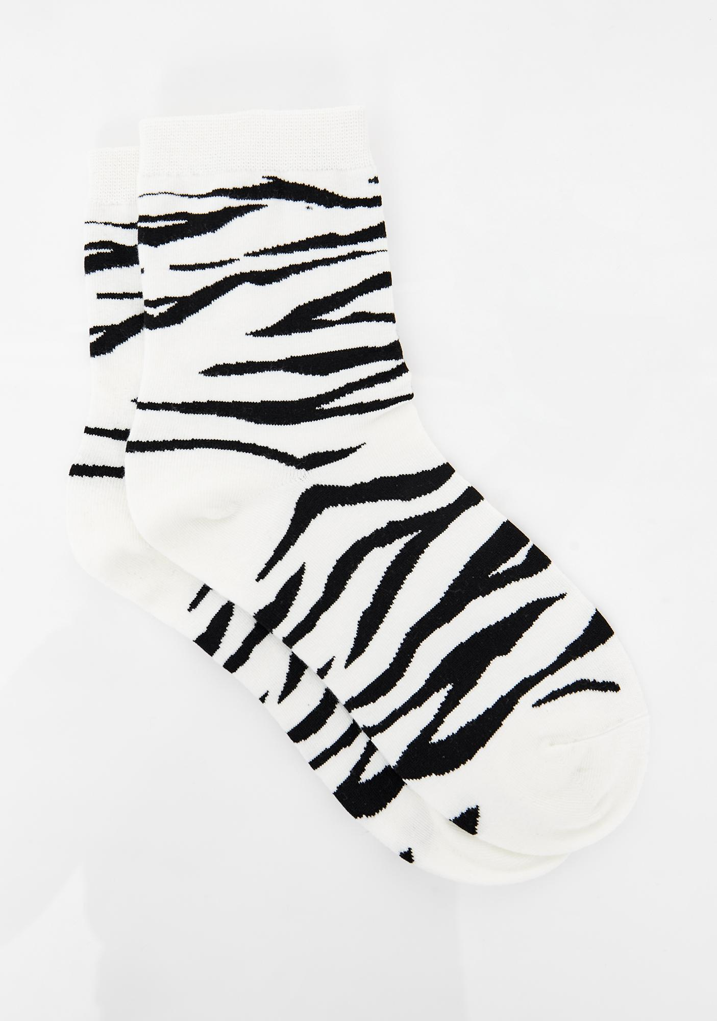 Fierce Nature Zebra Socks