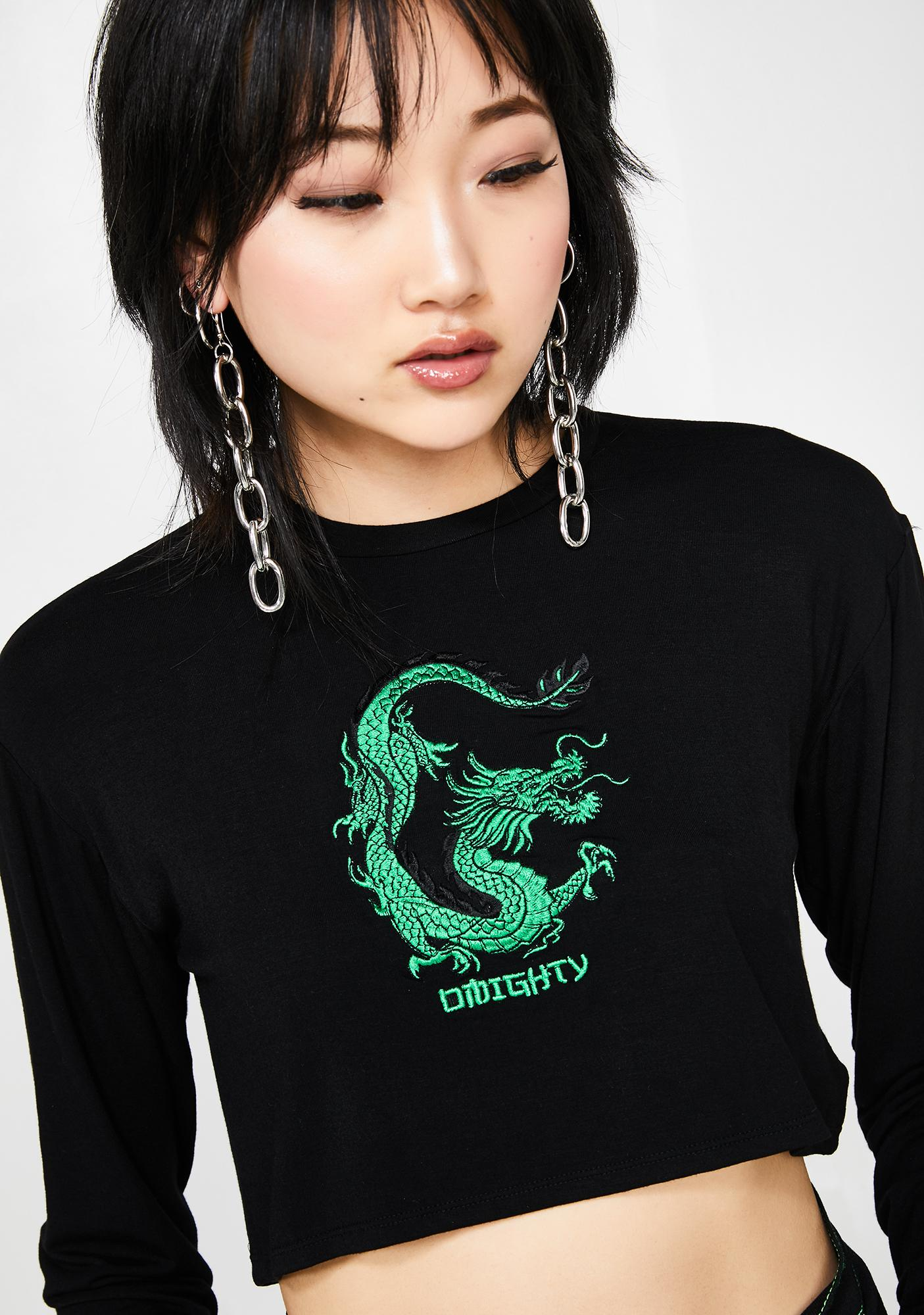 O Mighty Dragon Girl Crop Top